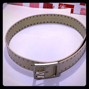 NWOT/NEW Calvin Klein OffWhite Unisex Leather Belt
